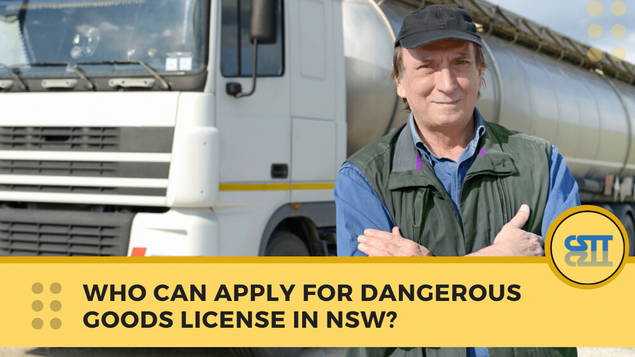 Dangerous Goods Licence NSW - Dangerous Goods