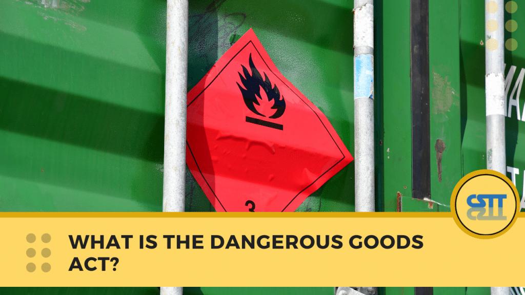 Important Facts About Dangerous Goods Transport NSW - Dangerous Goods Transport