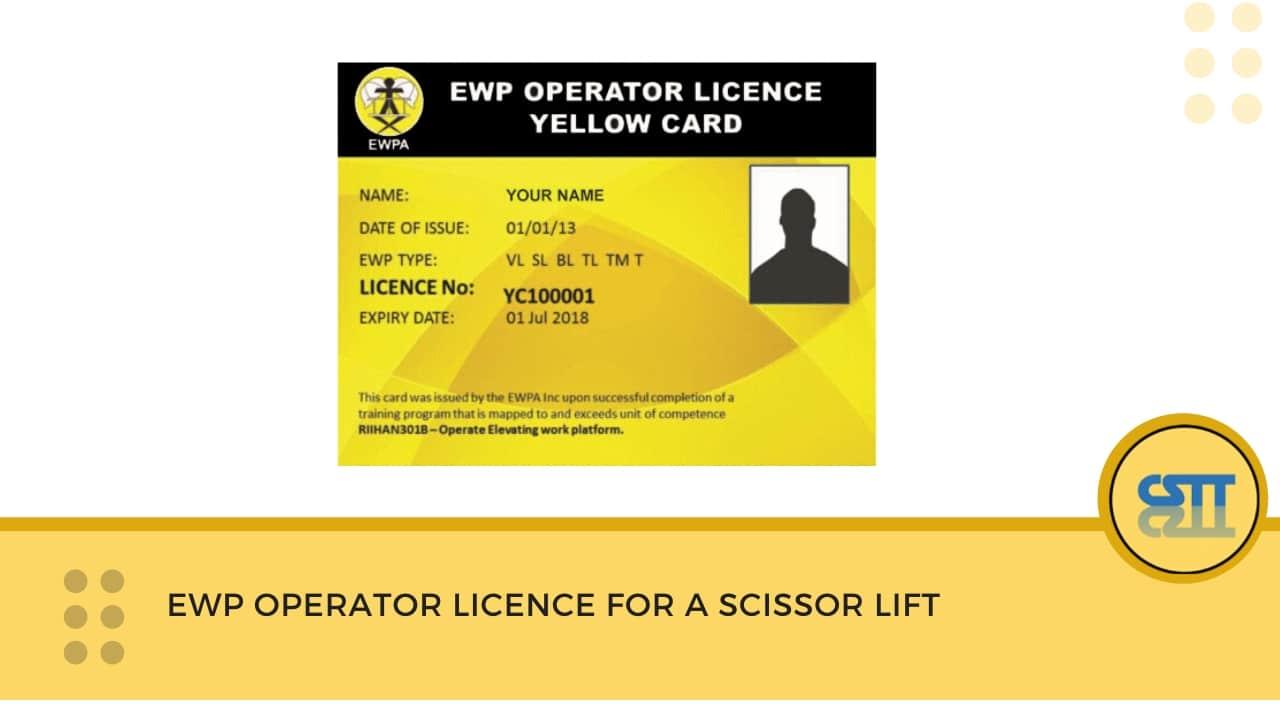 Scissor Lift Yellow Card NSW