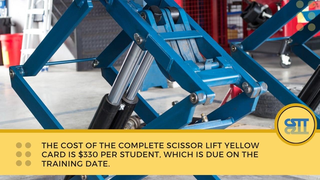 Scissor lift yellow card NSW course