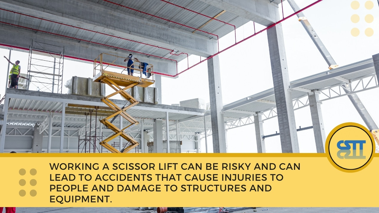Why is the scissor lift yellow card essential