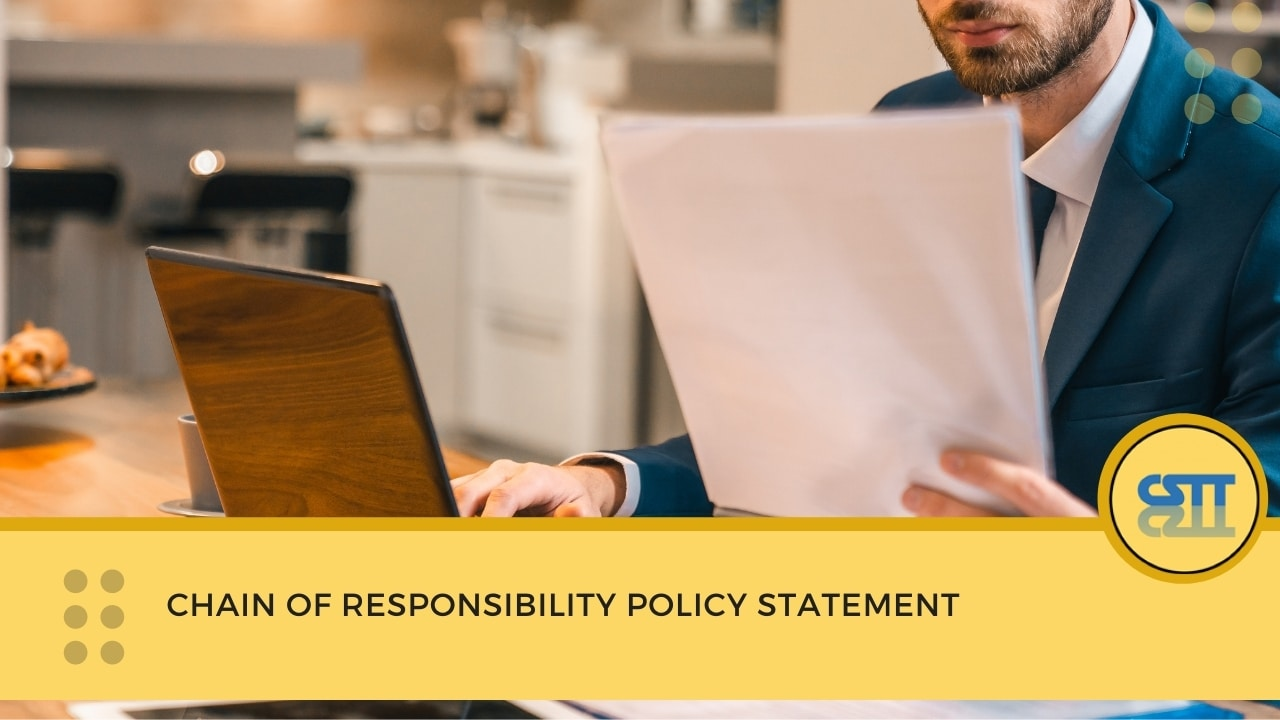 Chain of responsibility policy statement